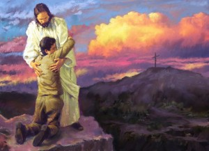 Repenting in Jesus' Arms